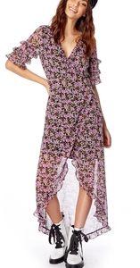 Lost + Wander Lovestoned Floral Wrap Maxi Dress L